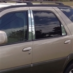 Buick Rendezvous Chrome Pillar Post Trim, 2002, 2003, 2004, 2005, 2006, 2007, 2008