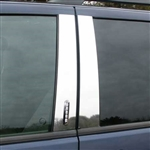 Ford Explorer Chrome Pillar Post Trim, 1990, 1991, 1992, 1993, 1994, 1995, 1996, 1997, 1998, 1999, 2000, 2001