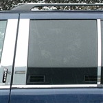Lincoln Aviator Chrome Pillar Post Trim, 6pc  2003, 2004, 2005