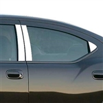 Dodge Charger Chrome Pillar Post Trim, 6pc  2006 - 2010