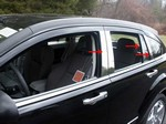 Dodge Caliber Chrome Pillar Post Trim, 8pc  2007 - 2012
