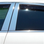 Cadillac CTS Sport Wagon Chrome Pillar Post Trim, 8pc Set, 2010, 2011, 2012, 2013, 2014