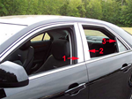 Cadillac CTS Chrome Pillar Post Trim, 6 pc. Set, 2008, 2009, 2010, 2011, 2012, 2013