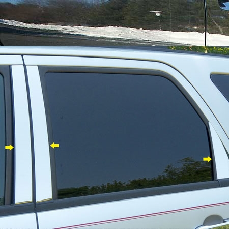 Ford Escape Chrome Pillar Post Trim 6pc Set 2008 2009 2010