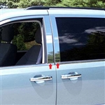 Dodge Grand Caravan Chrome Pillar Post Trim, 2008, 2009, 2010, 2011, 2012, 2013, 2014, 2015, 2016, 2017, 2018, 2019, 2020