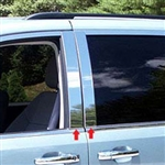 Chrysler Town and Country Chrome Pillar Post Trim, 2008, 2009, 2010, 2011, 2012, 2013, 2014, 2015, 2016
