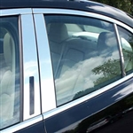 Lincoln MKS Chrome Pillar Post Trim, 2009, 2010, 2011, 2012, 2013, 2014, 2015, 2016