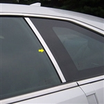 Cadillac CTS Coupe Chrome Pillar Post Trim, 2011, 2012, 2013, 2014