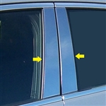 Cadillac ATS Chrome Pillar Post Trim, 6pc set, 2015, 2016, 2017, 2018