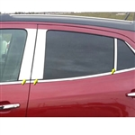 Buick Encore Chrome Pillar Post Trim, 6pc. Set, 2013, 2014, 2015, 2016, 2017, 2018
