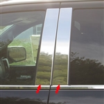 GMC Sierra Chrome Pillar Post Trim, 2014, 2015, 2016, 2017, 2018