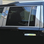 Chevrolet Suburban Chrome Pillar Post Trim, 2015, 2016, 2017, 2018, 2019, 2020