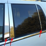 Ford Expedition Chrome Pillar Post Trim, 2015, 2016, 2017