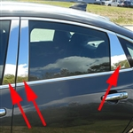 Chevrolet Malibu Chrome Pillar Post Trim, 2016, 2017, 2018, 2019, 2020