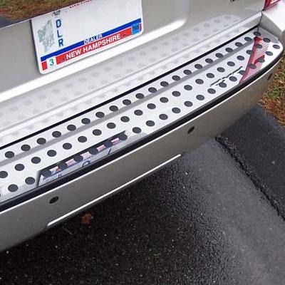 Dodge Nitro Chrome Rear Bumper Trim 2007 2011