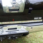 Nissan Titan Chrome Rear Deck Trim, 2004, 2005, 2006, 2007, 2008, 2009, 2010, 2011, 2012, 2013, 2014, 2015