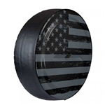 Jeep Wrangler Rigid Distressed Flag Tire Cover