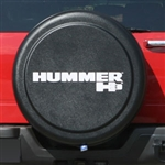 Hummer H3 Black Textured Rigid Spare Tire Cover, 2006, 2007, 2008, 2009, 2010