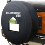 Hummer H2 Black Textured Rigid Spare Tire Cover, 2005, 2006, 2007, 2008, 2009