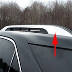 Chevrolet Equinox 'Factory Roof Rack' Chrome Trim, 2010, 2011, 2012, 2013, 2014, 2015, 2016, 2017