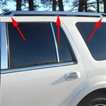 Ford Expedition Chrome Roof Rack Trim, 2015, 2016, 2017