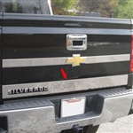 Chevrolet Silverado Chrome Tailgate Accent Trim, 2014, 2015, 2016, 2017, 2018