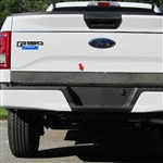 Ford F150 Chrome Lower Tailgate (lower half) Accent Trim without Emblem cut-out, 2015, 2016, 2017, 2018