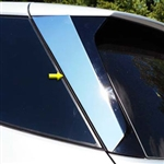 Chevrolet Equinox Chrome Rear Window Pillar Trim, 2018, 2019, 2020, 2021