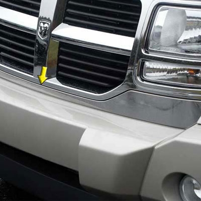 Dodge Nitro w// Stripes Mirror Stainless Steel License Plate