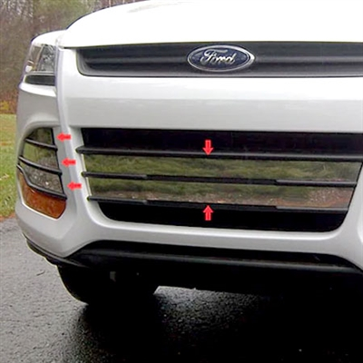 Ford Escape Chrome Grille And Vent Cover Trim 2013 2014