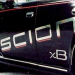 Scion xB Chrome Side Lettering, 2004, 2005, 2006