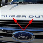 Ford Super Duty Front Hood Chrome Letter Inserts, 2017, 2018, 2019, 2020