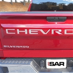 Chevrolet Silverado Tailgate Chrome Letter Set, 2019, 2020