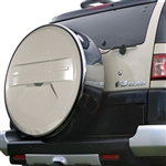 Toyota FJ Cruiser Painted Rigid Spare Tire Cover with Chrome Ring, 2010, 2011, 2012, 2013