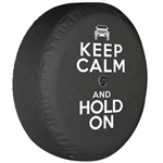 Jeep Wrangler JL Soft Tire Cover - Keep Calm