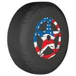Jeep Wrangler JL Soft Tire Cover - American Flag Distressed Star