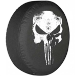 Jeep Wrangler JL Soft Tire Cover - Punisher Skull