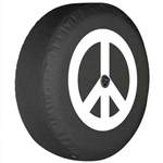 Jeep Wrangler JL Soft Tire Cover - Peace Sign