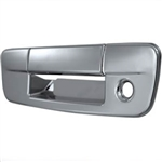 Dodge Ram Chrome Rear Tailgate Handle Cover with keyhole, 2009, 2010, 2011, 2012, 2013, 2014, 2015, 2016, 2017, 2018