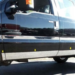 Ford Super Duty Extended Cab long bed Chrome Rocker Panel Trim, 2008, 2009, 2010