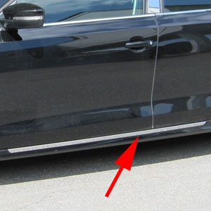Volkswagen Jetta Chrome Rocker Panel Trim, 2011, 2012, 2013, 2014, 2015, 2016, 2017