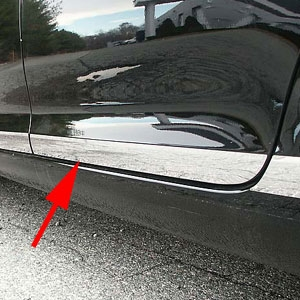 Volkswagen Jetta Chrome Rocker Panel Trim, 2005, 2006, 2007, 2008, 2009, 2010