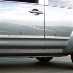 Mitsubishi Outlander Chrome Lower Door Accent Trim Set, 2007, 2008, 2009