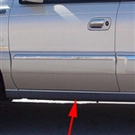 Lincoln Continental Rocker Panel Trim (below door), 1998, 1999, 2000, 2001, 2002, 2003, 2004