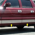 Chevrolet Avalanche Chrome Rocker Panel Set, 2002, 2003, 2004, 2005, 2006