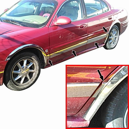 Buick Lesabre Chrome Side Molding Trim 8pc 2000 2001
