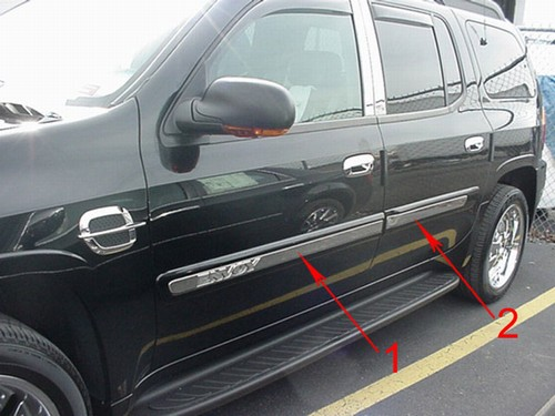 Gmc Envoy Chrome Door Molding Trim 6pc 2002 2009