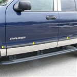 Ford Explorer Chrome Rocker Panel Trim (fits without factory fender flares), 2002, 2003, 2004, 2005, 2006, 2007, 2008, 2009, 2010