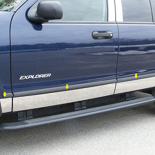 Ford Explorer Chrome Rocker Panel Trim Fits Without