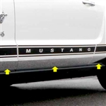 Ford Mustang Chrome Rocker Panel Trim, 2005, 2006, 2007, 2008, 2009